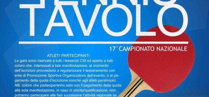A Tiggiano di Lecce la terza prova del Campionato Regionale di Tennis Tavolo