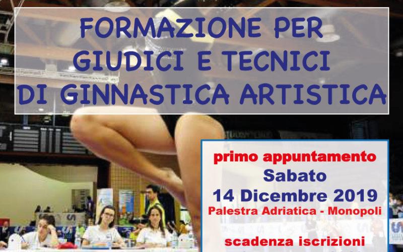 Corso di Formazione per Tecnici e Giudici di Ginnastica Artistica
